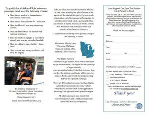 LifeLine Pilots brochure inside page