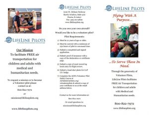 LifeLine Brochure outside page